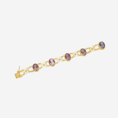 14kt cameo bracelet