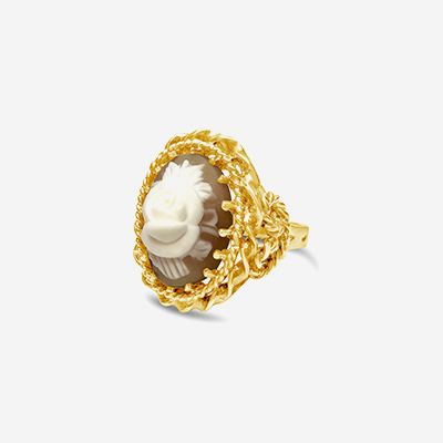 14kt cameo ring