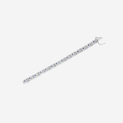 18kt sapphire and diamond bracelet