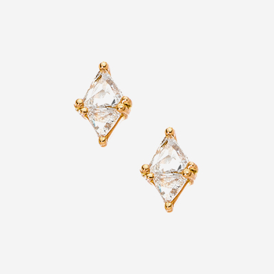 18kt trill rose cut diamonds earrings