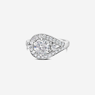 14kt vintage diamond ring