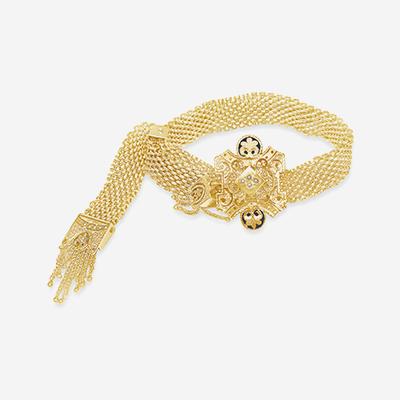 14kt adjustable mesh bracelet
