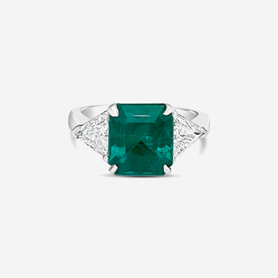 Platinum emerald ring