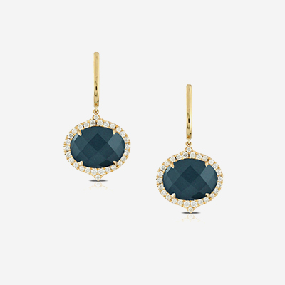 18kt blue topaz dangle earrings