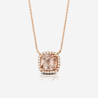 18kt morganite and diamond pendant