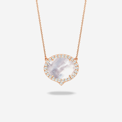 18kt quartz and diamond pendant