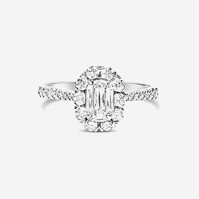 18kt L'amour diamond engagement ring
