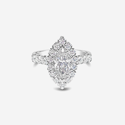 18kt marquise diamond engagement ring
