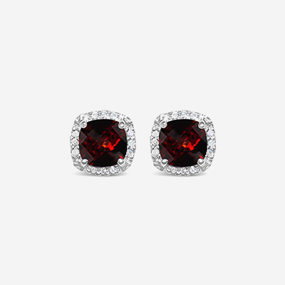 14kt garnet earrings