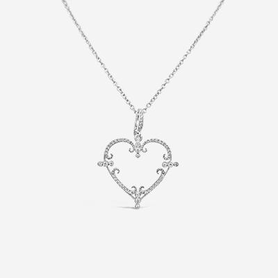 18kt heart pendant