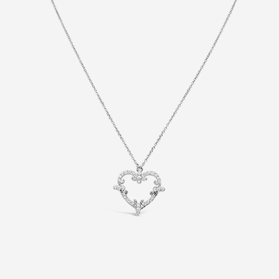 18kt Diamond Heart Pendant