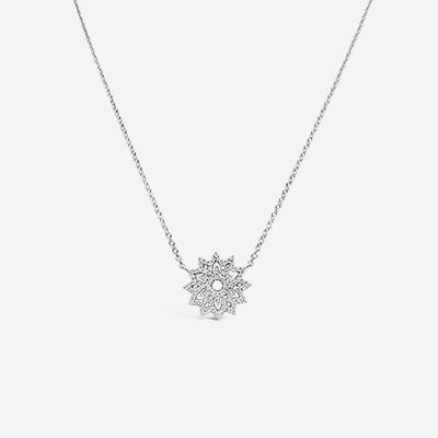 14kt snowflake diamond pendant