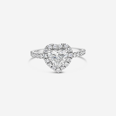 14kt heart shape diamond engagement ring