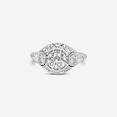 18kt antique diamond ring