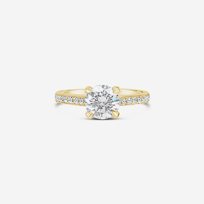 14kt diamond solitaire engagement ring