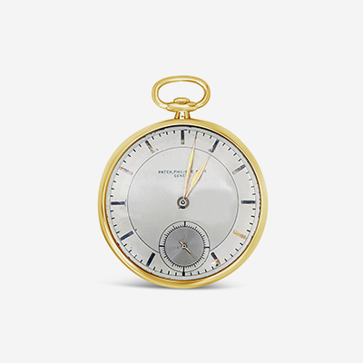 18kt patek philippe open face pocket watch