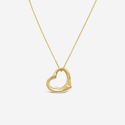 18kt tiffany floating heart pendant