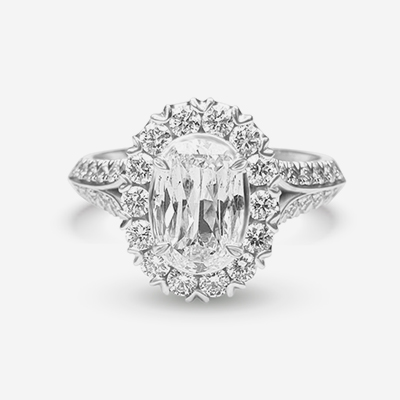 18kt L'amour diamond engagement ring