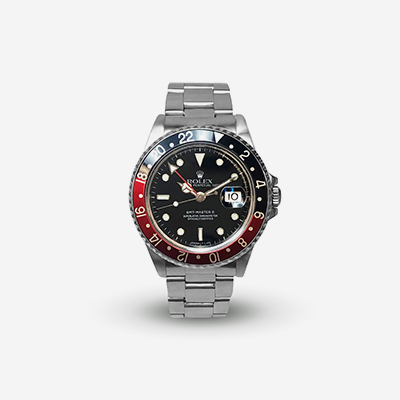 Stainless Steel Rolex GMT II Watch