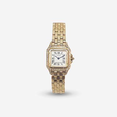 18kt Cartier Panther quartz ladies watch
