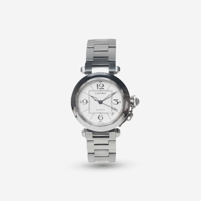 Stainless Steel 35mm Cartier Pasha Watch