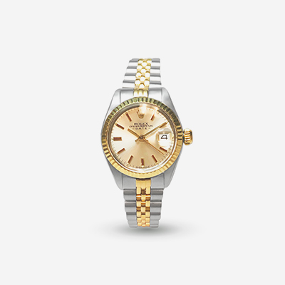 Two-Tone Rolex Ladies Date Watch