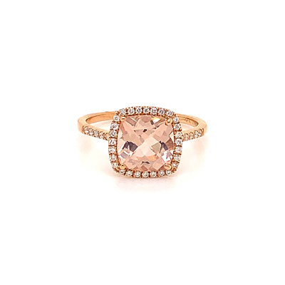 18kt rose gold and morganite ring