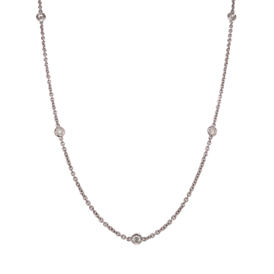 14kt Diamond-By-The-Yard Necklace