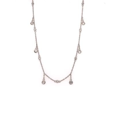 14kt dangling diamond necklace