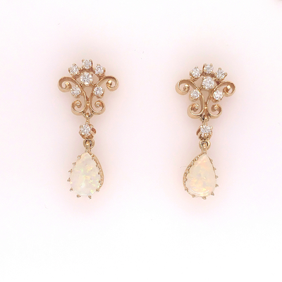 14kt Yellow Gold Vintage Earrings