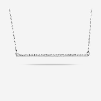 14KT Long Diamond Bar Necklace