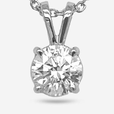 14KT Solitaire Diamond Pendant