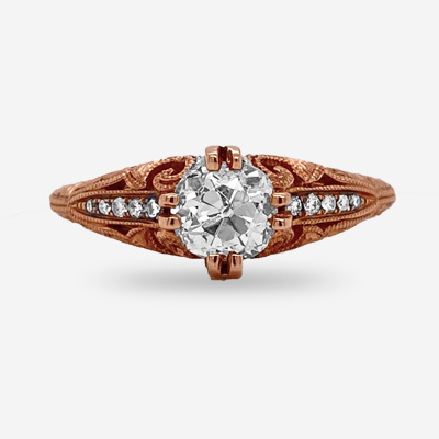 14KT Rose Gold Antique Ring
