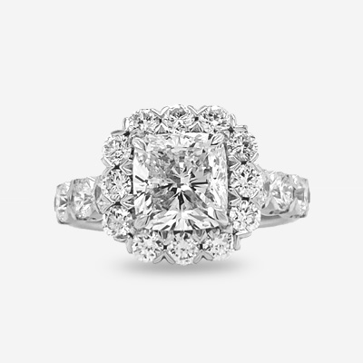18KT Cushion Diamond Engagement Ring