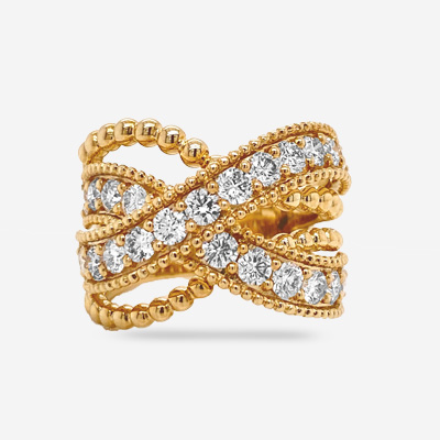 14KT Criss Cross Swirl Ring