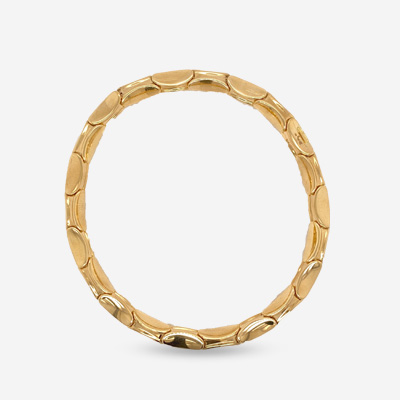 18KT Bamboo Spring Stretch Bracelet