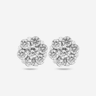 14KT Flower Cluster Stud Earrings