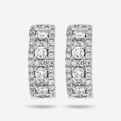 14KT Pavement Diamond Huggy Earring