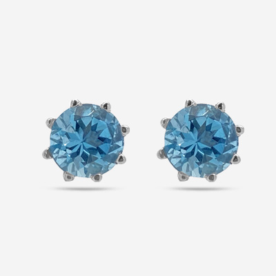 14KT Aquamarine Stud Earrings
