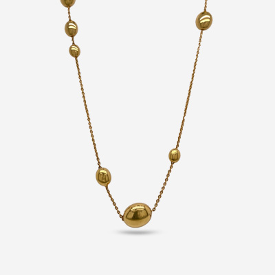 18KT Oval Bead Necklace